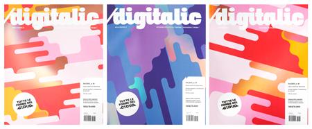 Eine Zeitschriftenausgabe - verschiedene Titelvarianten, realisiert mit dem DM-LINER® Toner
