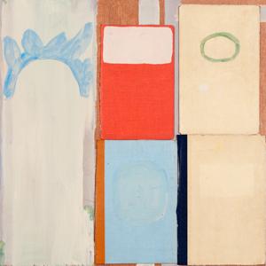Krzysztof Gruse – o.T., 42 x 43 cm, Buchdeckel/Acryl auf Holzplatte, 2011